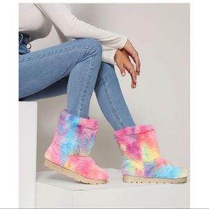 NIB Bamboo Tie-Dye Wash Ankle Boots